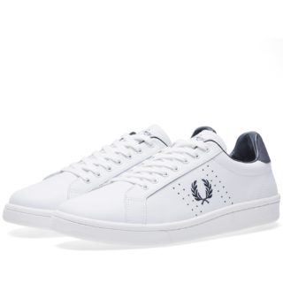 Fred Perry B721 Leather Sneaker (White)
