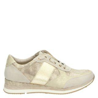 Marco Tozzi lage sneakers beige