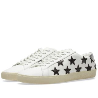 Saint Laurent SL-06 California Star Low Sneaker (White)