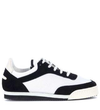 Comme des Garçons Shirt Comme Des Garçons Shirt X Spalwart Pitch Suede And Mesh Sneaker (zwart)
