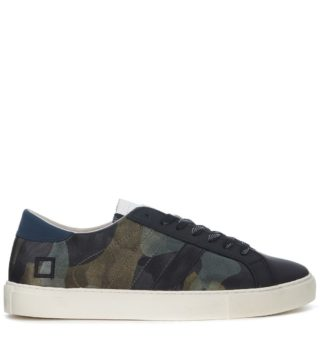 D.A.T.E. D.a.t.e. Newman Camo Army Rubber Covered Leather Sneaker (groen)