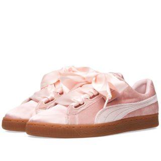 Puma Basket Heart Velour & Satin W (Pink)