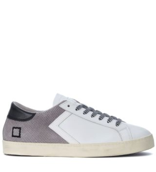 D.A.T.E. D.a.t.e. Hill Low Half White Leather And Grey Suede Sneaker (grijs)