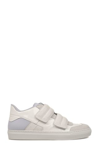 MM6 Maison Margiela White Patent Leather Sneakers (wit)