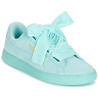 Details about Puma Suede Heart Pebble Women's Sneaker Shoes Leather Turquoise 365210 03