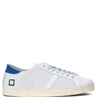 D.A.T.E. D.a.t.e. Hill Low Pop White Pierced Leather Sneaker (wit)