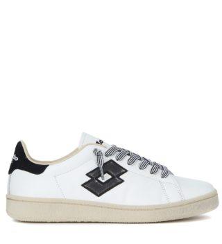Lotto Leggenda Lotto Leggenda Autograph Black And White Leather Sneaker (wit)