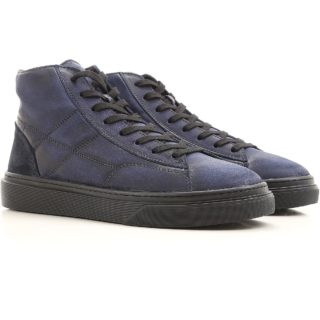 Hogan Mens H340 Hogan Sneakers (blauw)