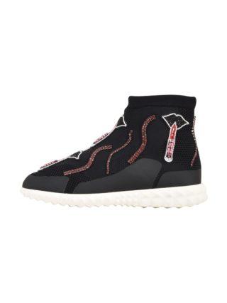 Valentino Garavani Valentino Garavani Knit High-top Sneaker (zwart)