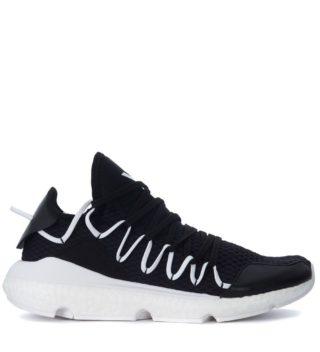 Y-3 Y-3 Kusari Black Mesh And Leather Sneaker (zwart)