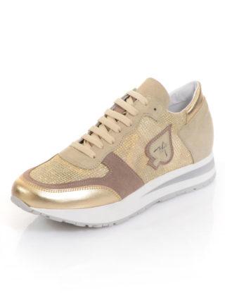 Sneaker Alba Moda beige/goudkleur