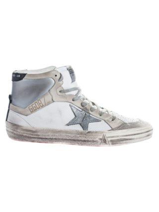 Golden Goose Golden Goose 2.12 Hi-Top Sneakers (wit/zilver)
