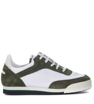 Comme des Garçons Shirt Comme Des Garçons Shirt X Spalwart Pitch Suede And Mesh Sneaker (groen)