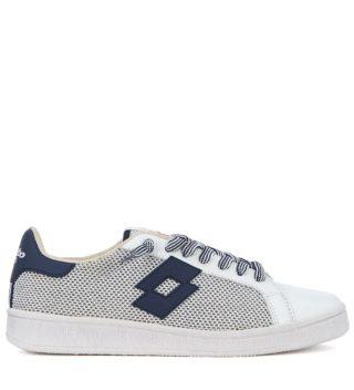 Lotto Leggenda Lotto Leggenda Autograph Blue And White Leather And Mesh Sneaker (wit)