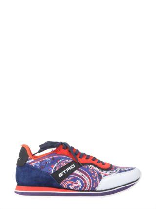 Etro Paisley Printed Running Sneakers (multicolor)