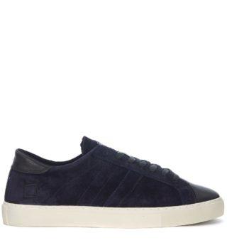 D.A.T.E. D.a.t.e. Newman Velour Blue Suede And Black Leather Sneaker (Overige kleuren)