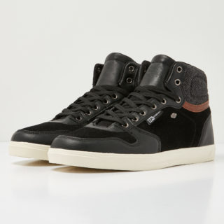 British Knights ranger men's high-top sneaker (zwart)