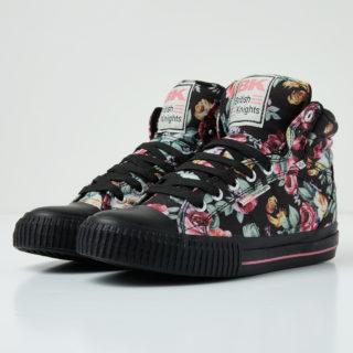 British Knights dee women's high-top sneaker (zwart)