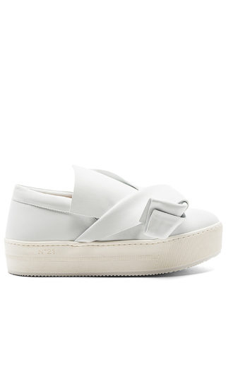 No. 21 Platform Sneaker in White