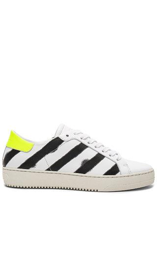 OFF-WHITE Spray Diagonal Sneakers in White