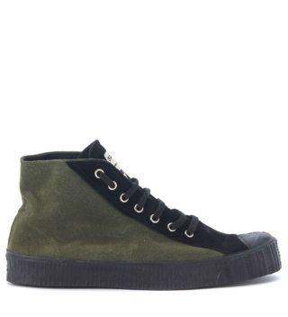 Comme des Garçons Shirt Comme Des Garçons Shirt Spalwart Green And Black Sneaker (groen)