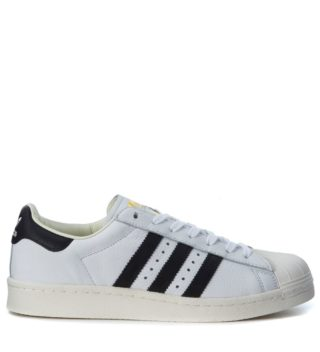 Adidas Originals Adidas Superstar Boost Sneaker In Black And White Leather (wit)