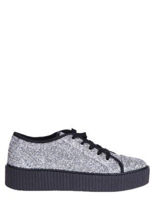 MM6 Maison Margiela Embellished Sneakers (zilver)