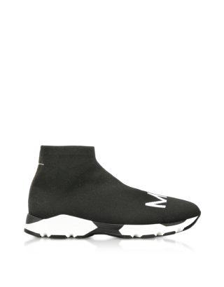 MM6 Maison Martin Margiela MM6 Maison Martin Margiela Designer Shoes, Black and White Logo Sock Sneakers (Overige kleuren)