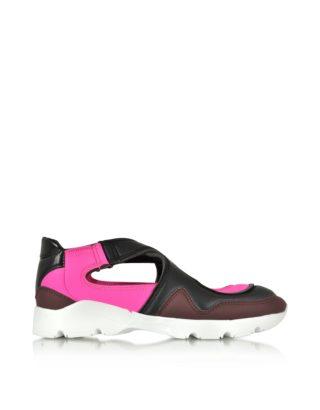 MM6 Maison Martin Margiela MM6 Maison Martin Margiela Designer Shoes, Color Block Nylon and Leather Sneakers (Overige kleuren)