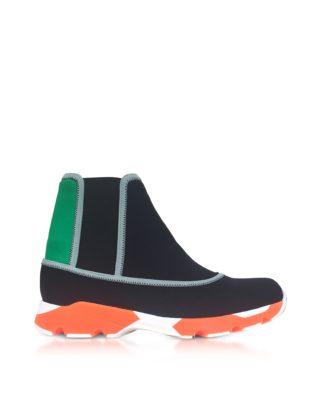 Marni Marni Designer Shoes, Black Neoprene High Top Sneakers (Overige kleuren)