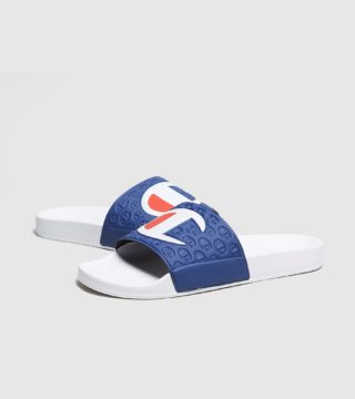 Champion Logo Slippers (wit)