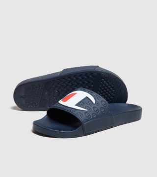 Champion Logo Slippers (blauw)