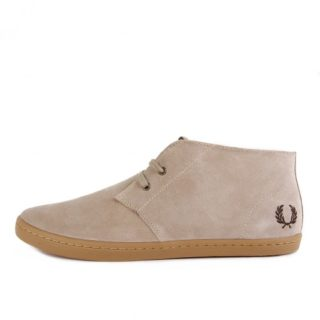 Fred Perry Byron Mid Suede Sand Gum