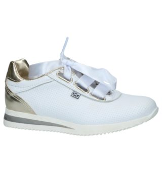 Witte Geklede Sneakers (wit)