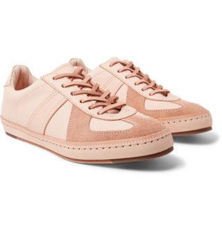 Hender Scheme Mip-05 Suede-trimmed Leather Sneakers – Beige