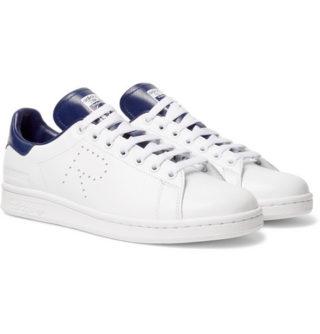 Raf Simons + Adidas Originals Stan Smith Leather Sneakers – White