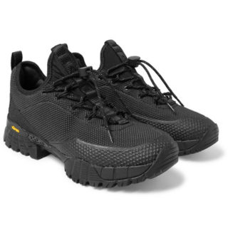 ROA Daiquiri Rubber-trimmed Suede And Mesh Sneakers – Black