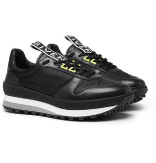 Givenchy Tr3 Leather And Shell Sneakers – Black