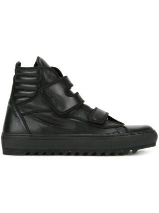 Raf Simons touch strap hi-top sneakers (zwart)