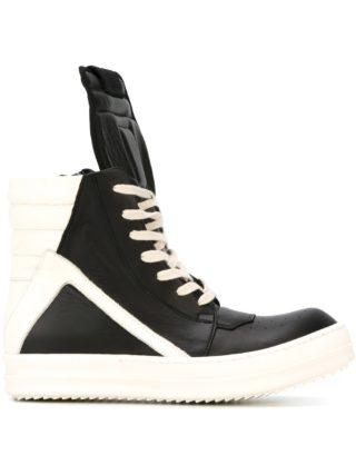 Rick Owens 'Geobasket' hi-top sneakers (zwart)