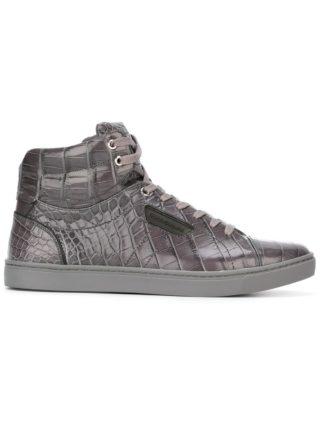 Dolce & Gabbana crocodile skin hi-tops (grijs)