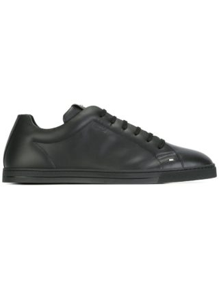 Fendi classic lace-up sneakers (zwart)