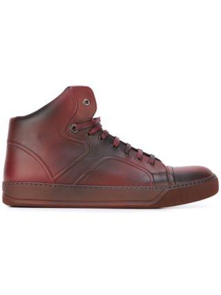 Lanvin hi-top spray paint sneakers (rood)