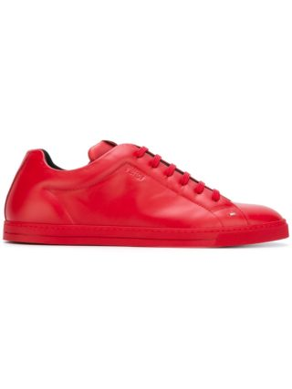 Fendi classic lace-up sneakers (rood)