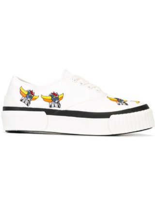 Julien David embroidered canvas sneakers (wit)