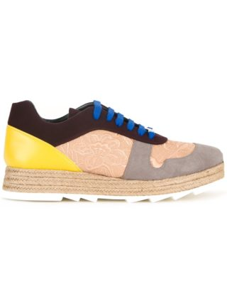 Stella McCartney paneled lace-up sneakers (multicolor)