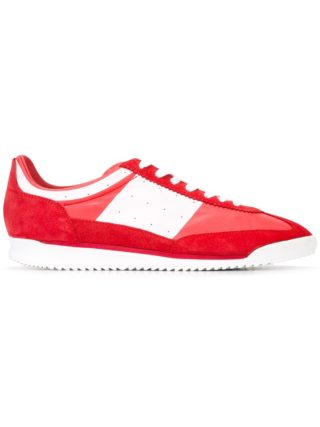 Maison Margiela panelled lace-up sneakers (rood)