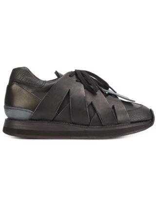 Hender Scheme crisscross detail sneakers (zwart)