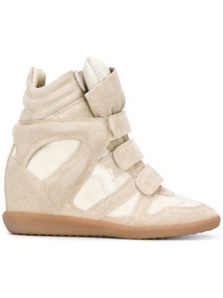 Isabel Marant Étoile 'Beckett' hi-top sneakers - Nude & Neutrals