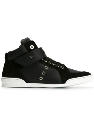 Jimmy Choo Lewis hi-top sneakers (zwart)